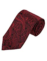 EAA1B02C Fashion Great Designer Red paisley Formal Wear Microfiber Neckties Contemporary Presents For Mens By Epoint