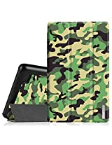 """Fintie Fire 7 2015 Slim Shell Case - Ultra Slim Lightweight Standing Cover for Amazon Fire 7 Tablet (will only fit Fire 7"""" Display 5th Generation - 2015 release), Camo Green"""
