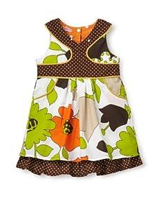 Beetlejuice Girl's 2T-6X Buttercream Print Swing Dress (Print)