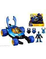Fisher Price Imaginext Dc Justice League Exclusive Blue Beetle & Vehicle Nip