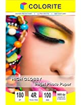 """Colorite Inkjet High Glossy Photo Paper 180 Gsm 4R (4""""x6"""") /100 Sheets"""