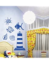 UberLyfe Marine Life Wall Sticker for Living Room