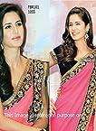 Beautiful Replica Katrina Hot Pink Saree In Promoting Jab Tak Hai Jaan