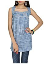 Rajrang Indian CasuaL Wear Wear Womens CLothing Top Khadi Kurta BLouse Size S