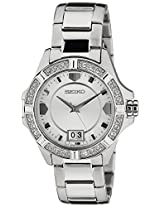 Seiko Lord Analog White Dial Women's Watch - SUR809P1