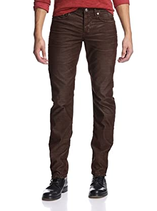 Stitch's Men's Barfly Slim Straight Corduroy Pant (Rich Brown)