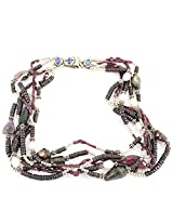 925-Silver Garnet,Pearl,Tourmaline Chokar Necklace For Women 11590