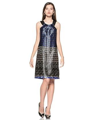Eccentrica Vestido Alisha (Azul/Blanco/Negro)