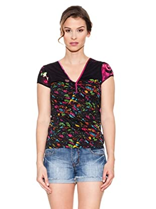 Mahal Camiseta Tres Botones (Negro)