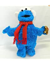 "2005 Sesame Street Cookie Monster with Gingerbread Man 18 "" Plush"