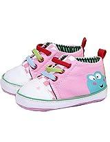 Xhorizon Girl'S Tm Flk Baby Girls Toddler Frog Pattern Pink Sport Shoes, 12-18 Month