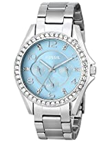 Fossil Riley Analog Blue Dial Women'S Watch -ES3529