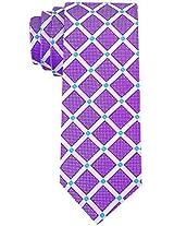 Scott Allan Men's Geometric Necktie - Purple/Blue