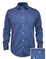Arrow Blue Casual Printed Shirt