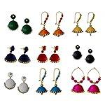 Multicolor Jhumka Combo-set-9