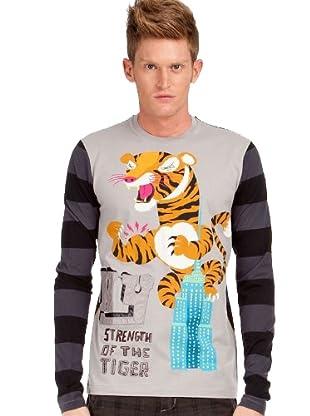 Custo T-Shirt Rond Ny (Grau)
