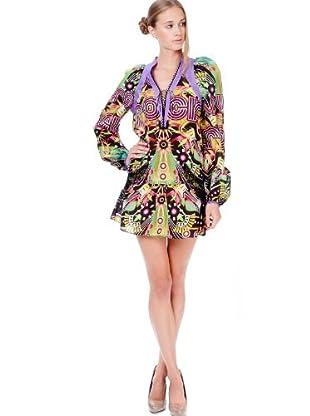 Custo Barcelona Damen Kleid (mini) 2292220 (Mehrfarbig (Multicolor))