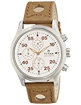 Titan Octane Analog White Dial Men's Watch - 1634SL01
