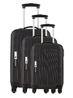 Platinium Set 3 Trolleys 4 Ruedas Tonga (Negro)