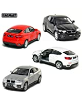 Set of 4: 5 BMW X6 SUV 1:38 Scale (Black/Red/Silver/White)