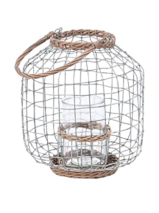 Skalny Large Round Wire, Rope, Glass Lantern