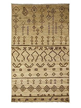 Darya Rugs Moroccan Oriental Rug, Ivory, 4' 10