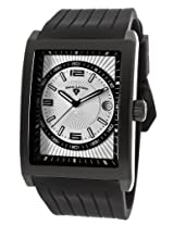 Limousine Black Silicone Silver-Tone And Black Dial (40012-Bb-02S)