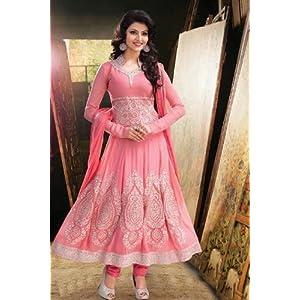 Georgette Pink Designer Party wear Salwar Suit