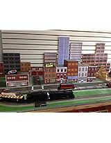 Model Train Scenery Sheets O Scale Downtown Scenery Kit