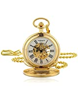"Akribos XXIV AK609YG ""Bravura"" Gold-Tone Mechanical Pocket Watch"