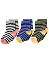 Carter's Baby Boys' Newborn Thee-Pack Striped Socks