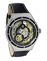 Swatch Black Leather Analog Women Watch YAS108