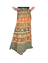 Marusthali Printed Cotton Elephant Wrap Around Skirt