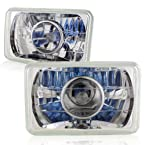 4 x6 Chrome Housing Diamond Cut Projector Headlights