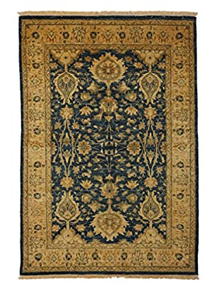 Darya Rugs Traditional Oriental Rug, Blue, 5' 2
