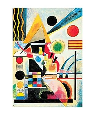 ArtopWeb Panel de Madera Kandinsky Ondeggiamento, 1925 - 100x70 cm