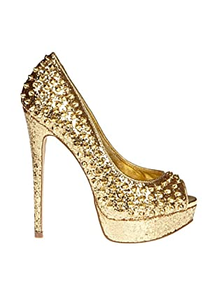 Steve Madden Zapatos Peep Toe Awesome (Dorado)