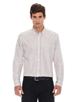Turrau Camisa Raya Doble (Marrón / Beig)