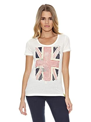 US Polo Assn Camiseta 2English Flag (Blanco)