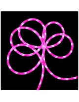18 Pink LED Indoor/Outdoor Christmas Rope Lights