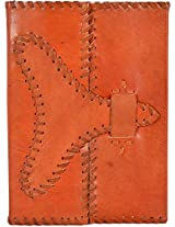 Craft Club Leather with Stiching Lock Notebook, 8 x 6 inches, 200 Pages