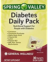 Spring Valley Diabetes Daily Pack, Supports General Wellness, 30 Packets