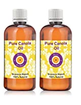 Pure Canola Oil - Pack of Two (100ml + 100ml) Brassica napus 100% Natural Cold pressed