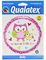 "Pioneer Balloon Company Welcome Little One Owls, 18"", Multicolor"