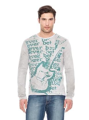 Calvin Klein Jeans Camiseta Cuello Redondo M / L (Gris)
