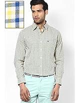 Yellow Checked Casual Shirt