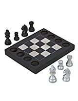 Tic Tac Chec Black and White Décor Indian Wooden Toys and Games for Kids