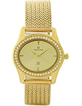 Maxima Swarovski Gold Analog Multi-Colored Dial Women's Watch - 29532CMLY