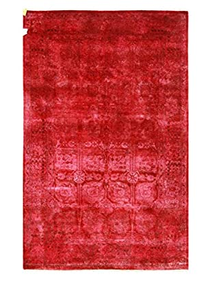 nuLOOM One-of-a-Kind Hand-Knotted Vintage Overdyed Area Rug, Magenta, 4' 5