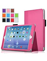 iPad Pro Case - Exact [PRO Series] iPad Pro 12.9inch Case - [Professional][Drop Protection] Slim-Fit PU Leather Folio Case for Apple iPad Pro (2015)(With Auto Wakes/Sleep Function) Hot Pink